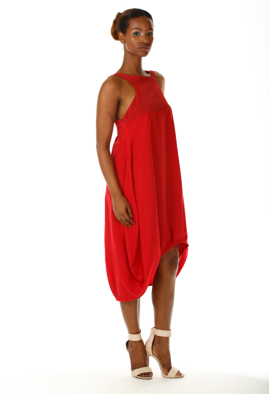 Midi Baloon Red Dress