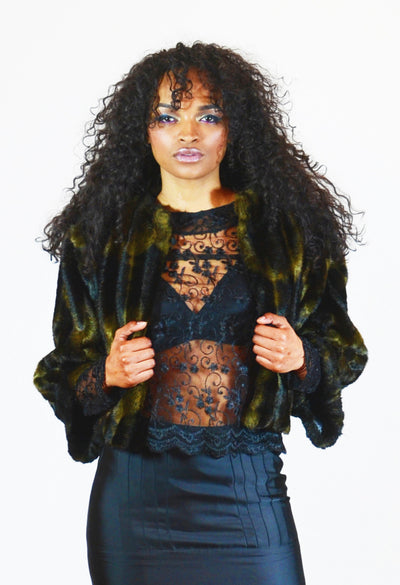 Faux Fur Bolero Jacket - Angelica Timas