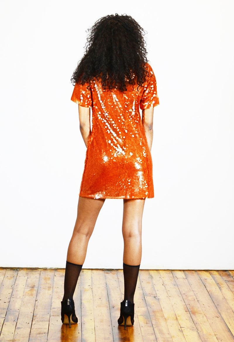 Sequined Mini Dress - Angelica Timas