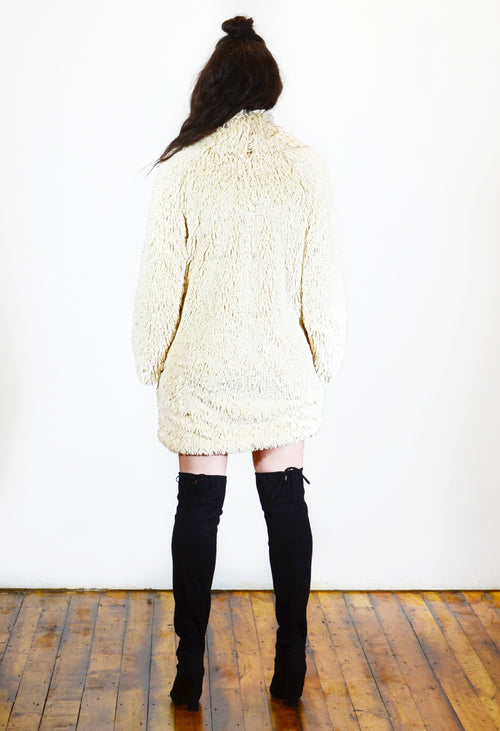 Fuzzy Oversized Sweater Dress - Angelica Timas