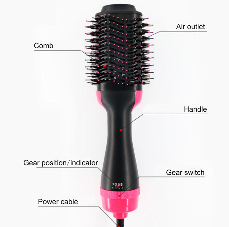 ShimmerX™ 3-in-1 Negative Ion Straightening Hair Dryer Brush