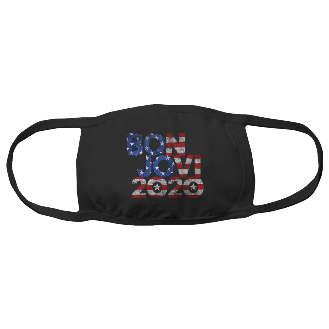 Bon Jovi 2020 Stars & Stripes Mask + Digital Album