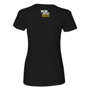 Bon Jovi Do What You Can Portrait Women's Black Tee
