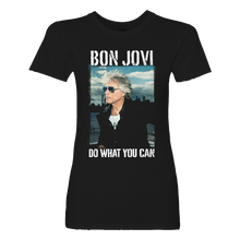 Load image into Gallery viewer, Bon Jovi Do What You Can Portrait Women's Black Tee