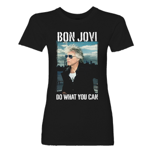 Bon Jovi Do What You Can Portrait Women's Tee + Digital Album