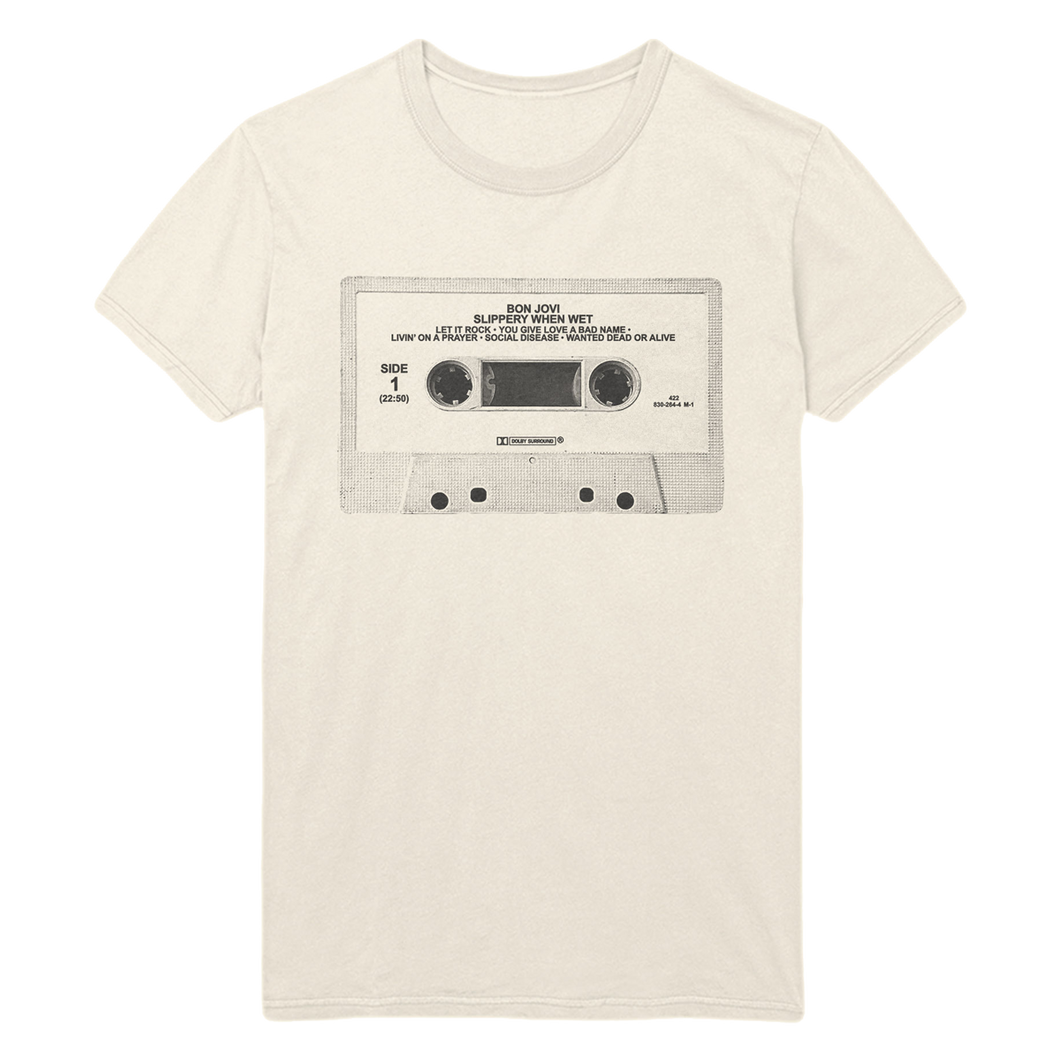 Bon Jovi Slippery When Wet Cassette Tee