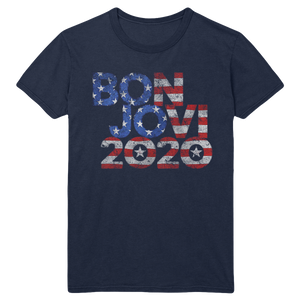 Bon Jovi 2020 Stars & Stripes Navy Tee