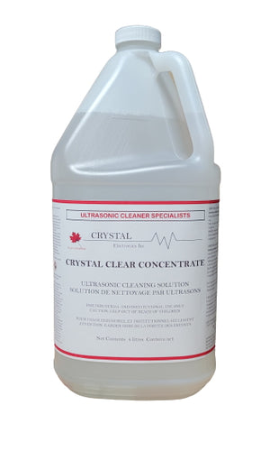 Crystal Clear Concentrate - Heavy duty ultrasonic cleaning solution