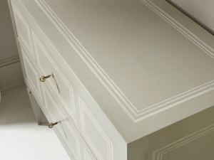 Grey with Ivory Accent Chest