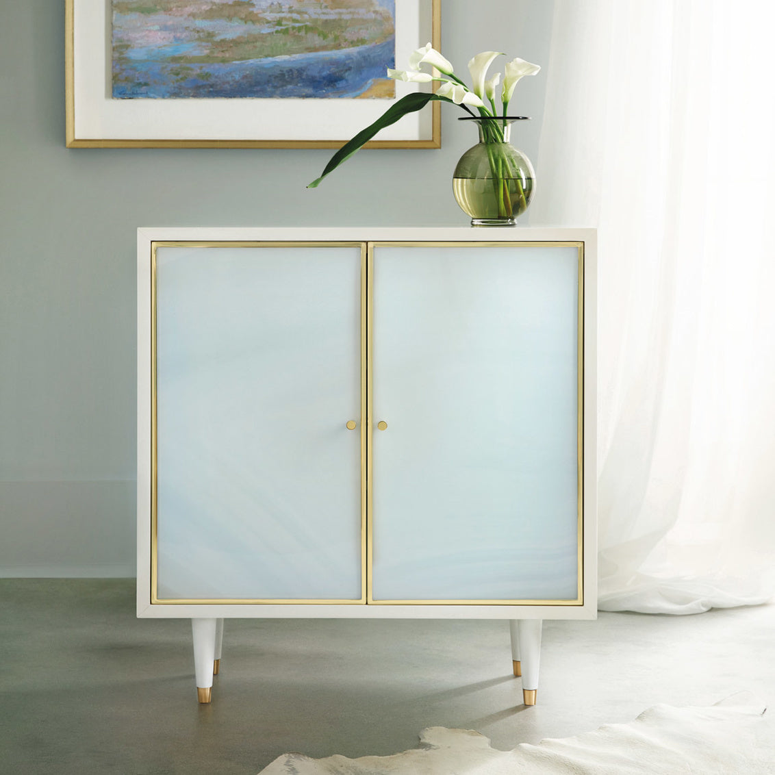 Seaglass Two-Door Cabinet