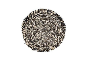 Black Heathered Fringed Placemat + Trivet