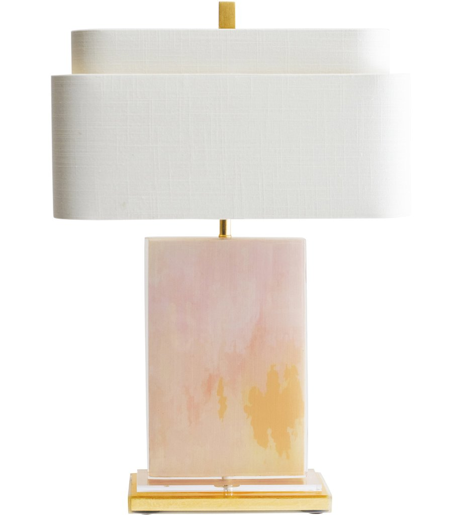 Pink Resin Table Lamp