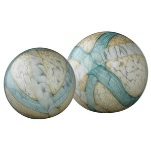 Celestial Glass Spheres Set of 2