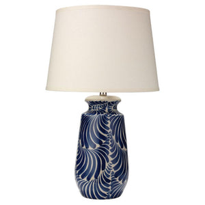 Navy Ceramic Printed Lamp