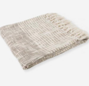 Taupe Cotton Throw