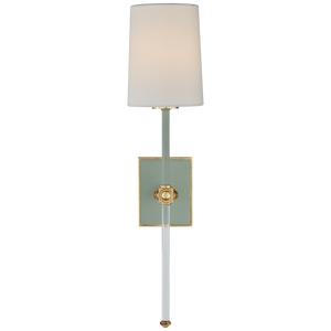 Celadon and Crystal Tail Sconce