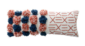 Pom-Pom Large Lumbar Pillow