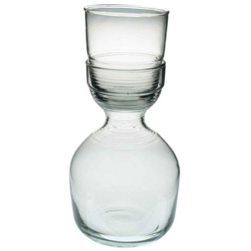 Recycled Glass Ripple Glass & Carafe Set