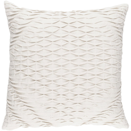 "Gray Pleated 18"" Pillow"