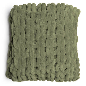 Chenille Chunky Knit Throw Sage