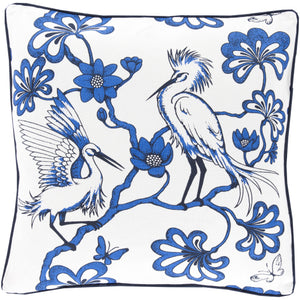Egrets in Blue Pillow
