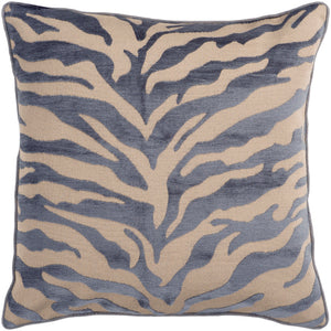 "Velvet Zebra 22"" Pillow"