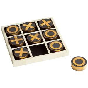 Tic Tac Toe in Bone & Gold