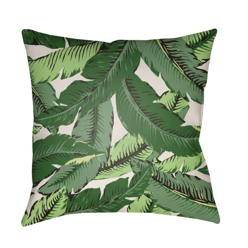"Banana Leaf Outdoor 18"" Pillow"