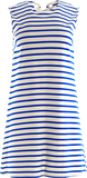 Maya Ponte Dress in Classic Stripe White/Cobalt