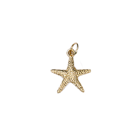 Medium Starfish Bracelet Charm in 14kt Gold