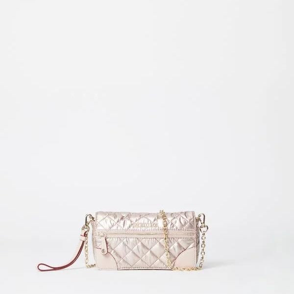MZ Wallace Crosby Convertible Wristlet in Rose Gold