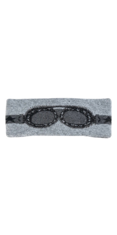 Goggles Knit Headband in Grey