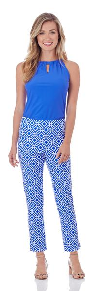 Lucia Slim Ankle Length Pant in Grand Links Sapphire