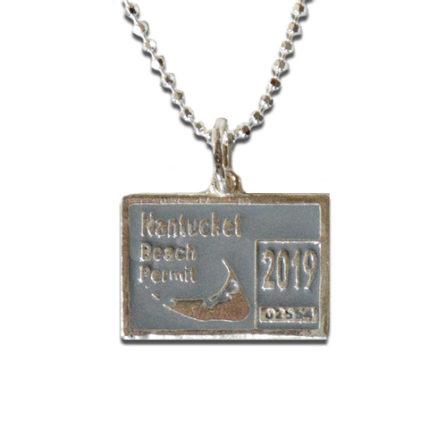 Nantucket 2019 Beach Permit Necklace By Nancy Jakubik
