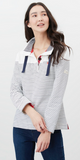 Suntan Sweatshirt in Navy Stripe by Joules