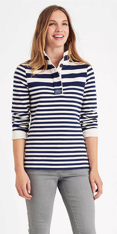 Cowdray Sweatshirt in Navy Stripe by Joules