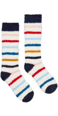 Fabulously Fluffy Socks in Nautical Stripe