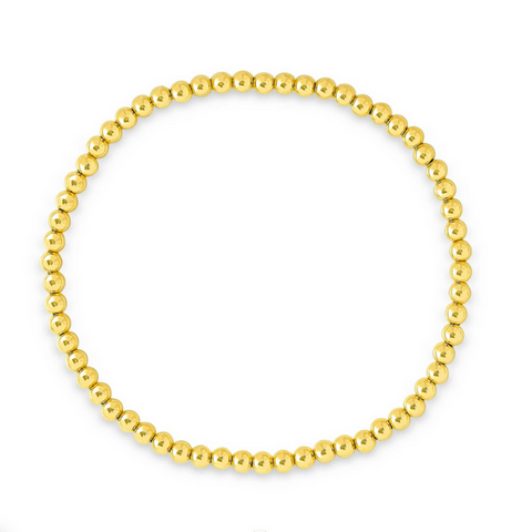 Gold Filled 3MM Beaded Bracelet