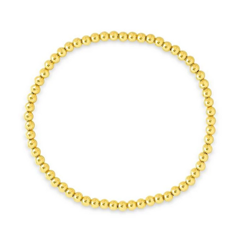 Gold Filled 4MM Beaded Bracelet