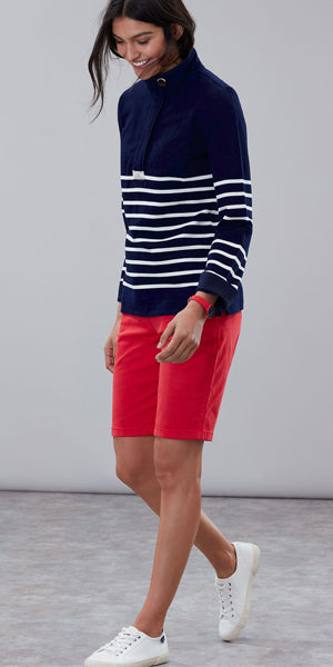 Saunton Sweatshirt in Navy Stripe by Joules