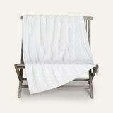 Barefoot Dreams Heathered Cable Throw in Pearl