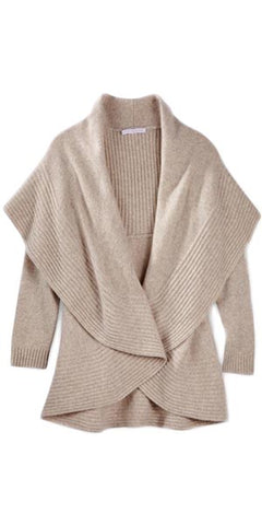 2-Way Cardigan Sweater in Sand