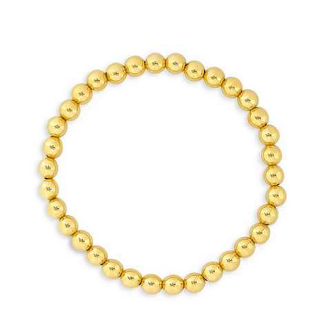 Gold Filled 5MM Beaded Bracelet