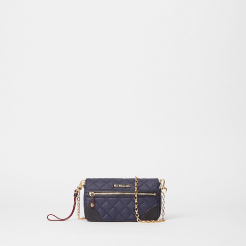 MZ Wallace Crosby Convertible Wristlet in Navy Dawn