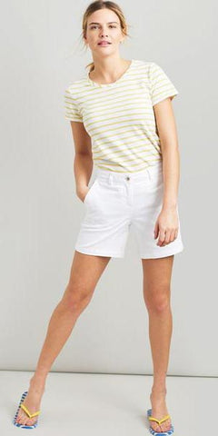 Cruise Shorts in White by Joules