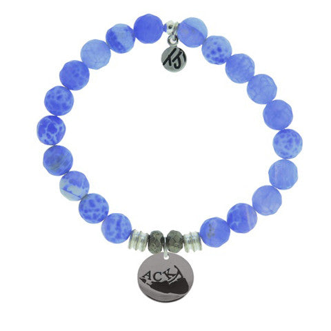 Blue Fire Agate StACKed Bracelet