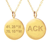 ACK Coordinate Necklace in Gold