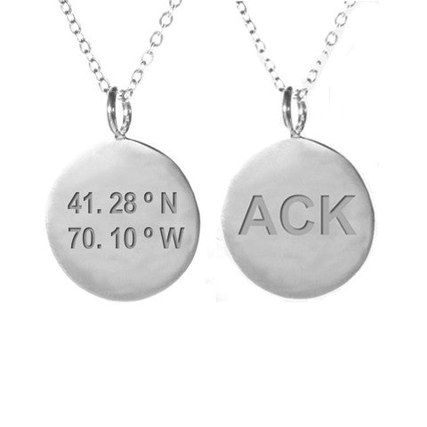 ACK Coordinate Necklace in Silver