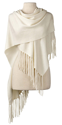 Cashmere Alicia Wrap in Ivory