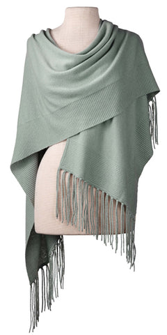 Cashmere Alicia Wrap in Sage